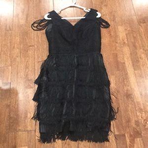 Black Dress with Tassels